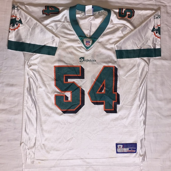 Wholesale Reebok Shirts | Nfl Zach Thomas Miami Dolphins Jersey L | Poshmark  for sale
